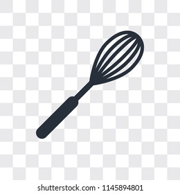 Whisk vector icon isolated on transparent background, Whisk logo concept