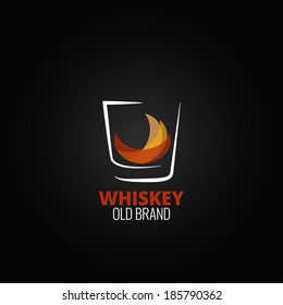 whiskey glass splash design background