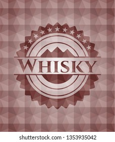 Whisky red seamless geometric badge.