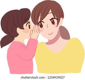 whisper in mother's ear