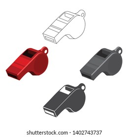 Whistle icon cartoon,black. Single sport icon from the big fitness, healthy, workout cartoon,black.