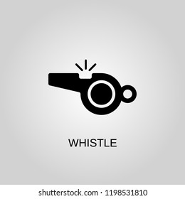 Whistle icon. Whistle symbol. Flat design. Stock - Vector illustration.
