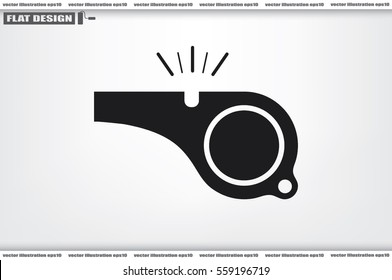 Whistle icon vector illustration.