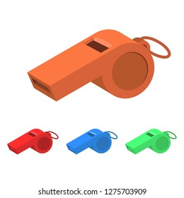 Whistle vector design illustration