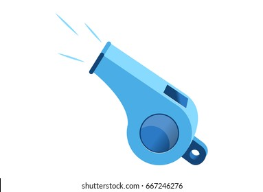 Whistle. Vector illustration. Isolated on a white background.