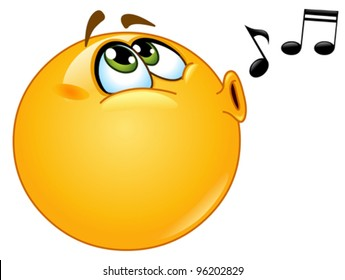Whistling emoticon