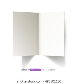 White 2 page brochure mockup template isolated for your branding and identity design. Vector Illustration EPS10