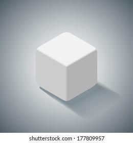 White 3D cube