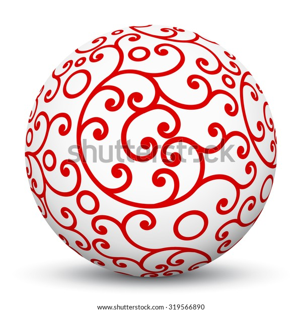 White 3d Sphere Mapped Red Aesthetic Stock Vector Royalty Free 319566890