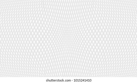 White abstract background with rhombus texture. Grey 3d effect waffer pit pattern, with diagonally crossed lines, in vector
