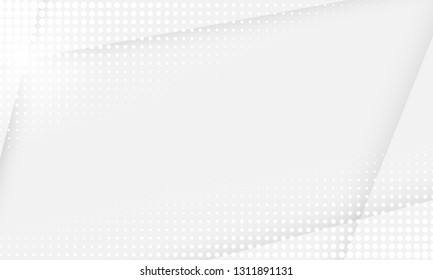 White abstract background. Vector gray white halftone dot pattern background