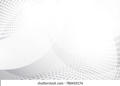 White abstract background vector. Gray abstract. Modern design background for report and project presentation template. Vector illustration graphic. Dot and circular shape. product advertising present