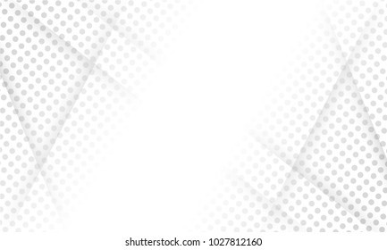 white abstract geometric background texture halftone design.