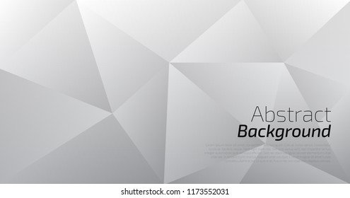 White abstract low poly background. Vector background art style can be used in cover design, book design, poster, flyer, cd cover, website backgrounds or adv design.