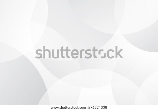 白とグレイの抽象的な現代の透明円のプレゼンテーション背景