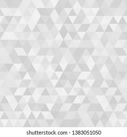 White abstract retro pattern of geometric shapes. Colorful gradient mosaic background. Seamless background. Vector illustration.