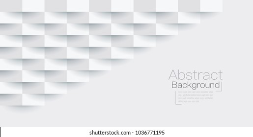 White abstract texture. Vector background 3d paper art style can be used in cover design, book design, poster, flyer, cd cover, website backgrounds or advertising.