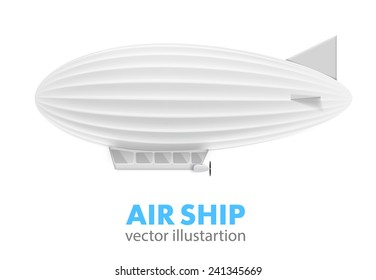 white air ship isolated on white