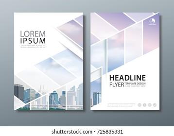 annual report brochure flyer design template stock vector royalty
