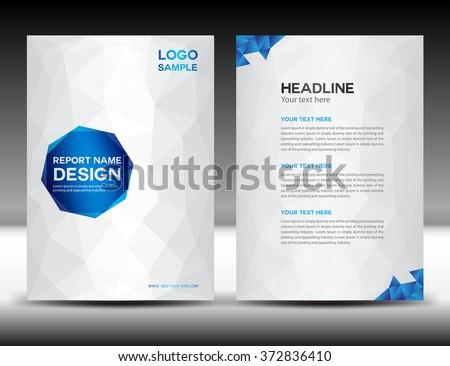 white annual report template brochure flyer のベクター画像素材