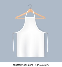 White Aprons Mockup Isolated Grey background With Gradient Mesh, Vector Illustration
