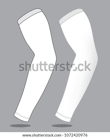 white arm sleeve template stock vector royalty free 1072420976
