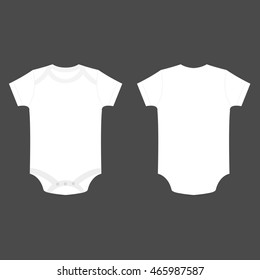 white baby bodysuit vector isolated
