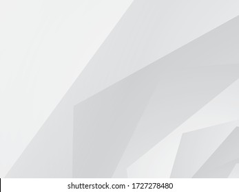 White Background Abstract Geometric Vector Illustration. You can use this white background template for website user interface.