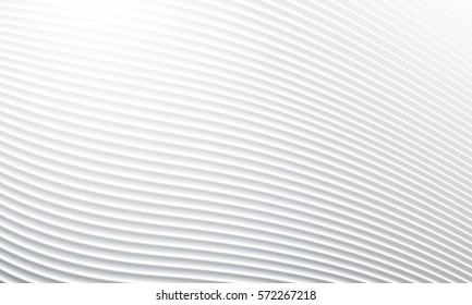 White background with abstract shadow wave line pattern. Vector wavy illustration.