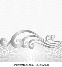 white background with ancient ornaments