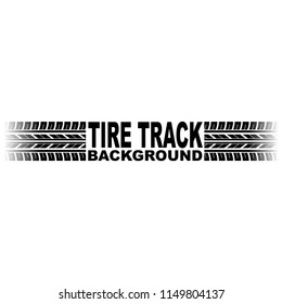 White background with black tire track and sample logo text