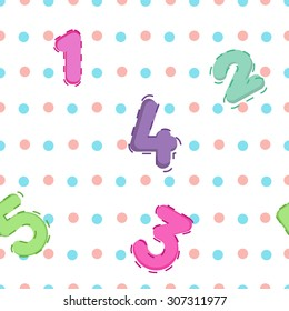 the white background color of the peas with numbers