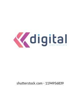 White background digital creative logo