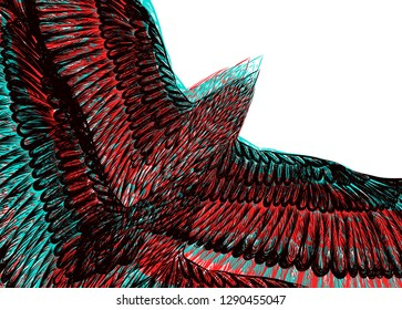 White background with flying birds. colorful pattern. To be used for fabric design, greeting card, print  t shirt. Fashion illustration.