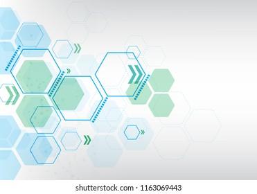 white background geometric blue hexagon pattern