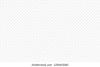 White background is an illusion of bump and relief, like plastic. Seamleess vector pattern.