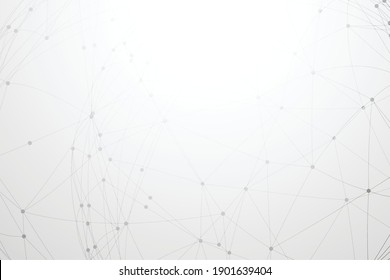 white background with low poly network connection