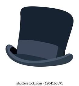 white background, men's top hat
