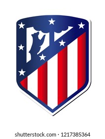 White Background ofAtletico Embos color Vector emblem EPS10