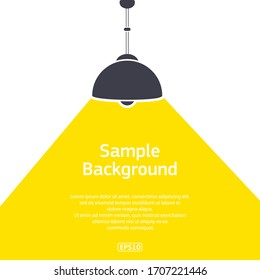 White background with sample text and lamp light