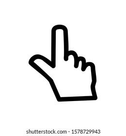 White background silhouette hand icon