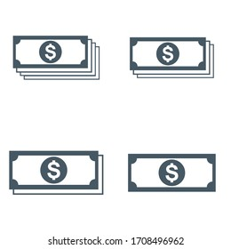 white background vector dollar icon