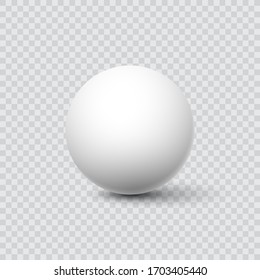 White ball. Sphere on a transparent background. Vector for your graphic design.