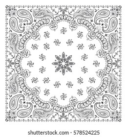 White Bandana Pattern