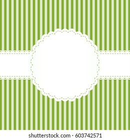 white banderole on green background with lined pattern