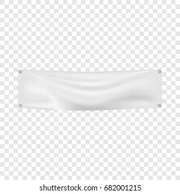 White banner mockup. Realistic illustration of white banner vector mockup for web