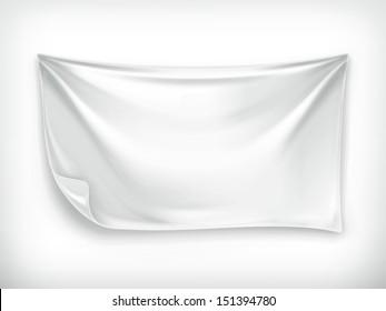 White banner, vector