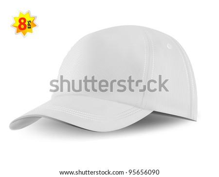 white baseball cap template mesh gradients stock vector royalty