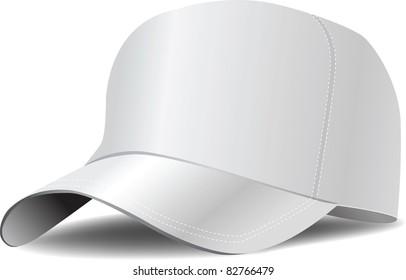 4711471109b White baseball cap vector illustration