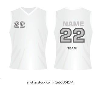 White basketball jersey. vector illustration